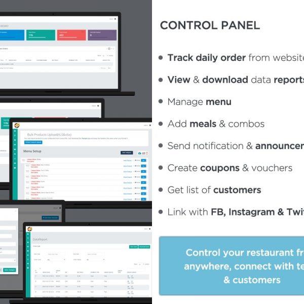 Web panel POS