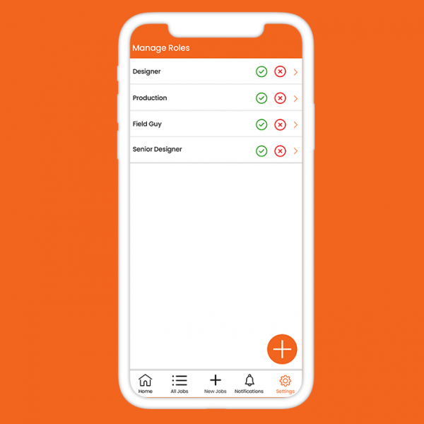 Manage role Screen